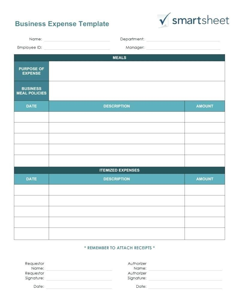 Basic Expense Report Template Excel