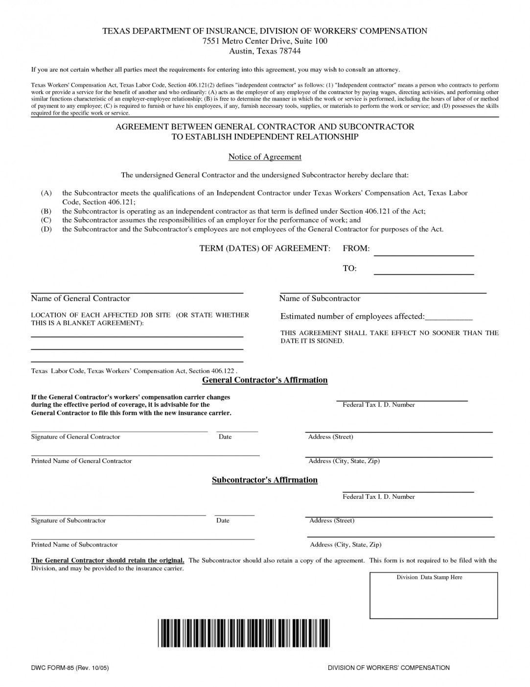 Basic Independent Contractor Template
