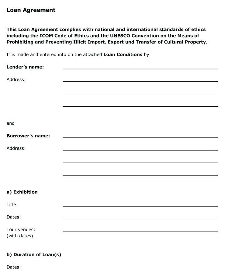 Basic Loan Agreement Template South Africa