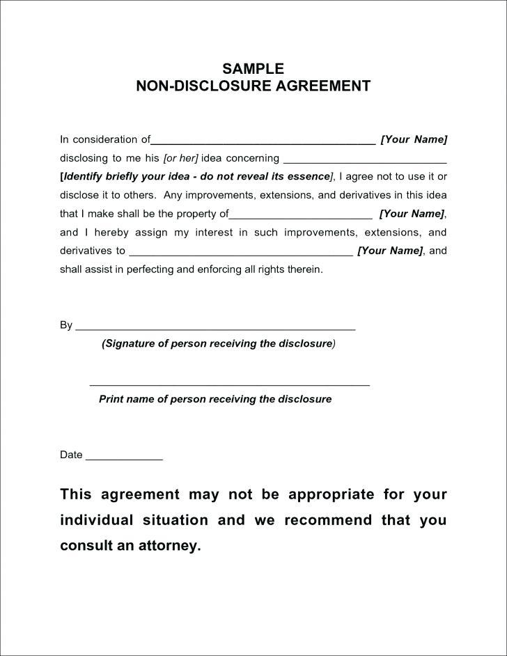 Basic Non Disclosure Agreement Template Word