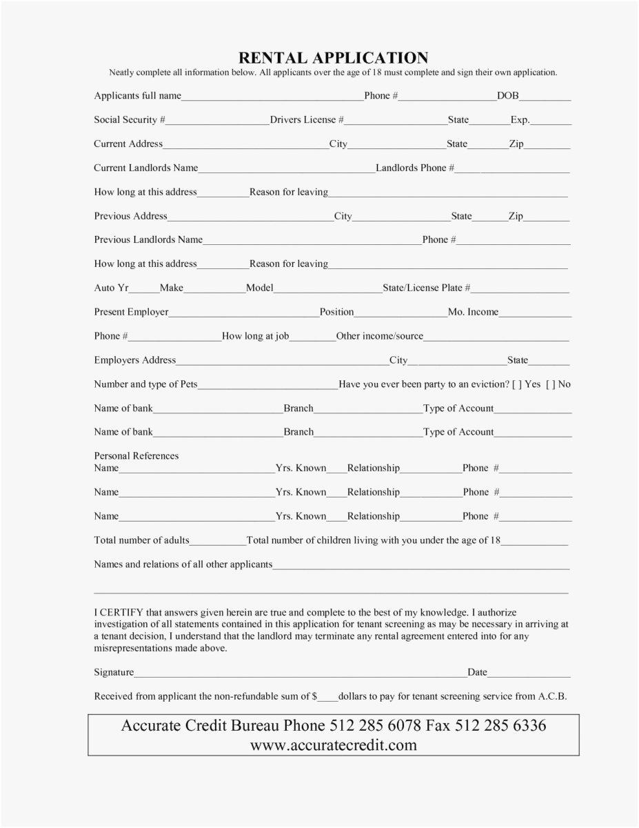 Basic Rental Agreement Or Residential Lease Template
