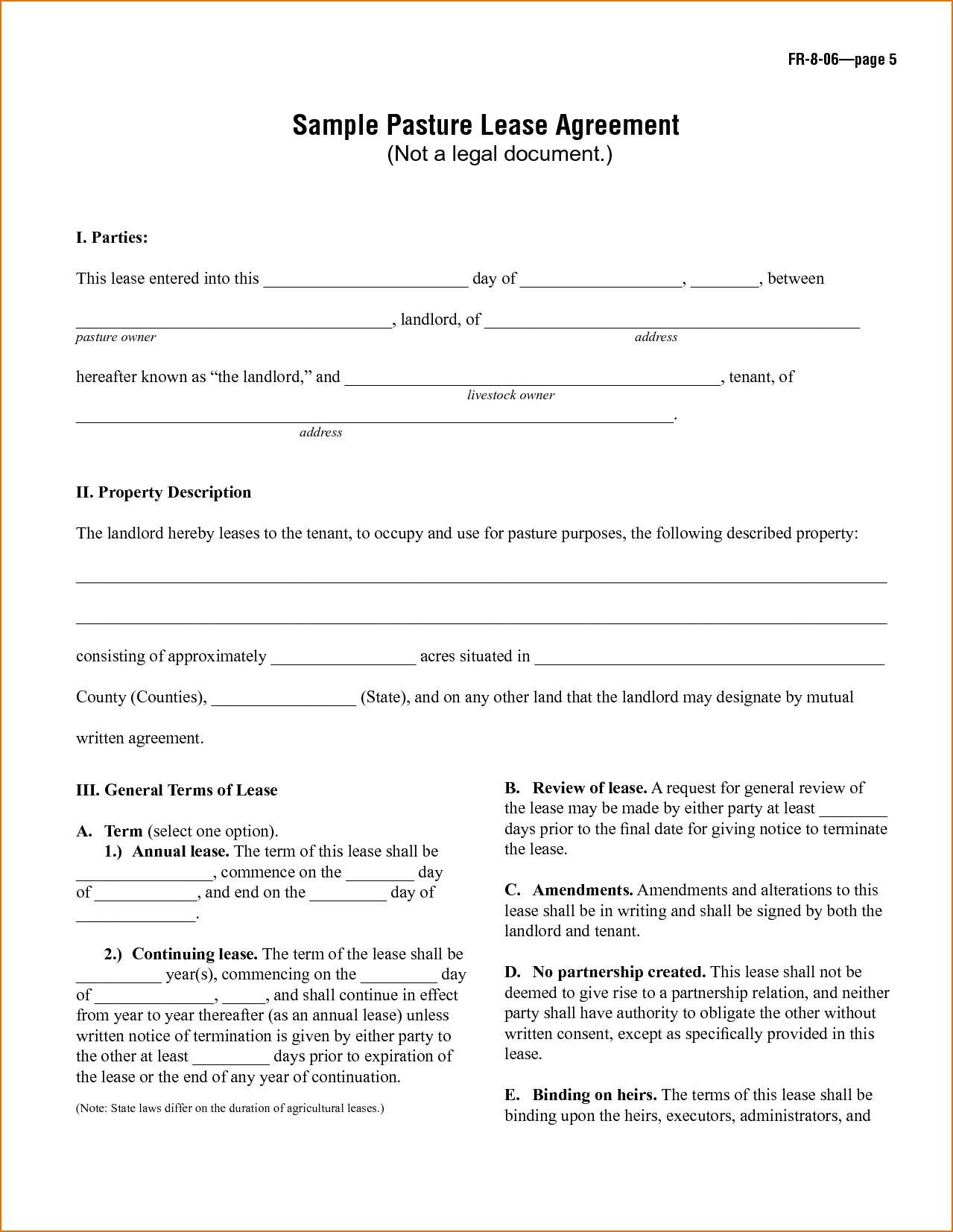 Basic Rental Agreement Template