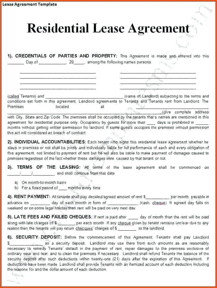 Basic Rental Contract Template South Africa