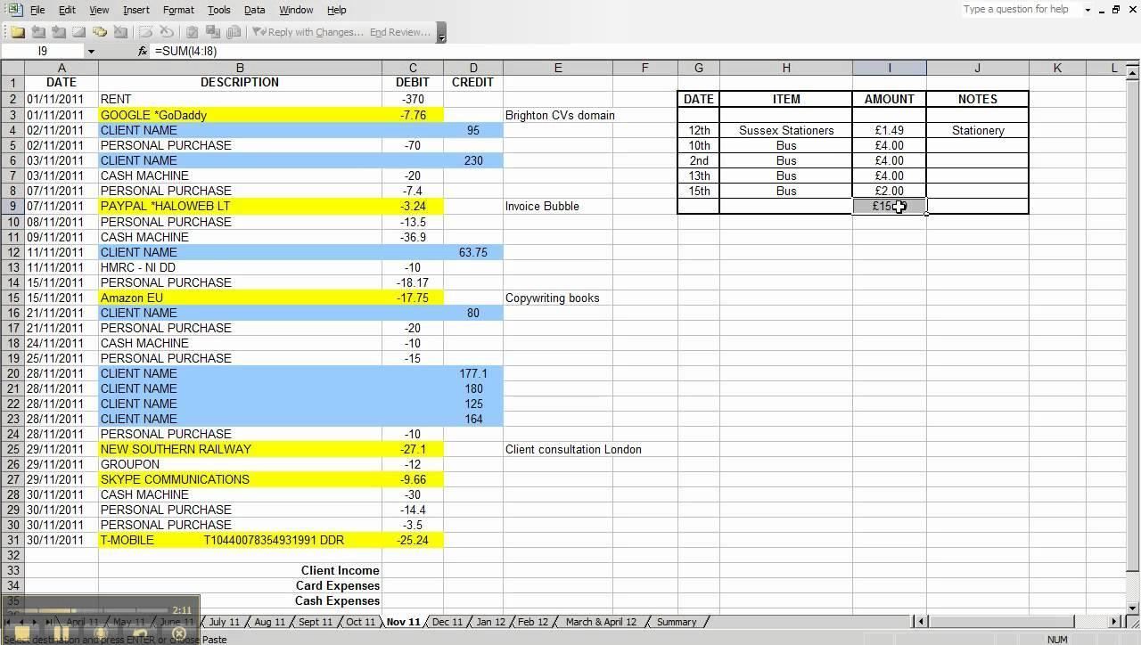 Basic Spreadsheet Templates