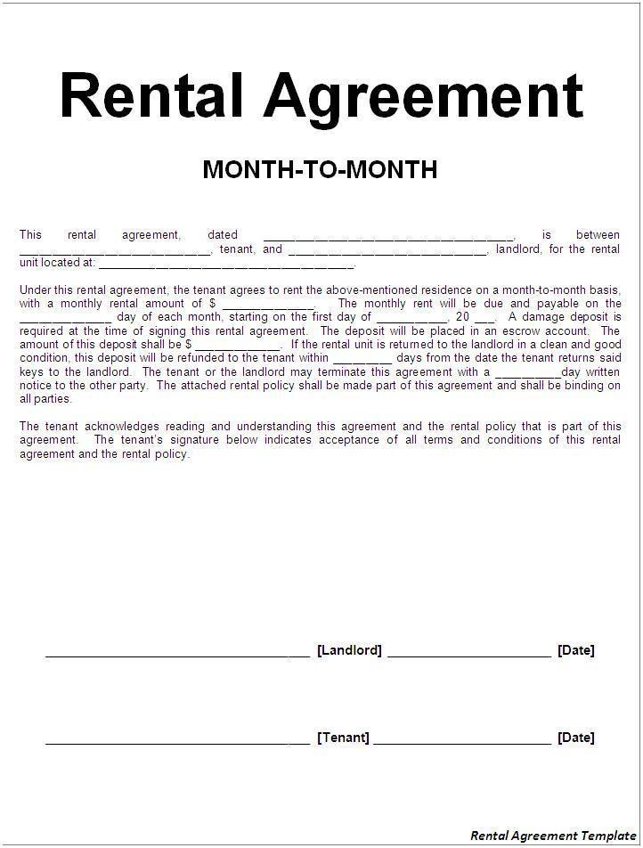 Basic Tenancy Agreement Template Free