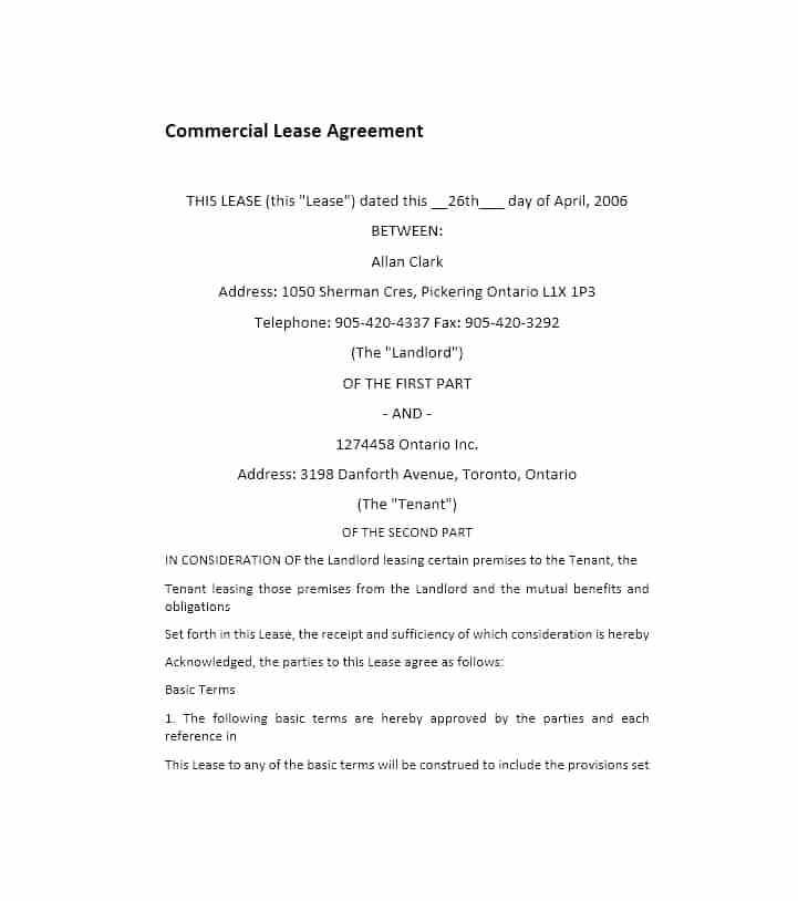 Basic Tenancy Agreement Template Uk Free