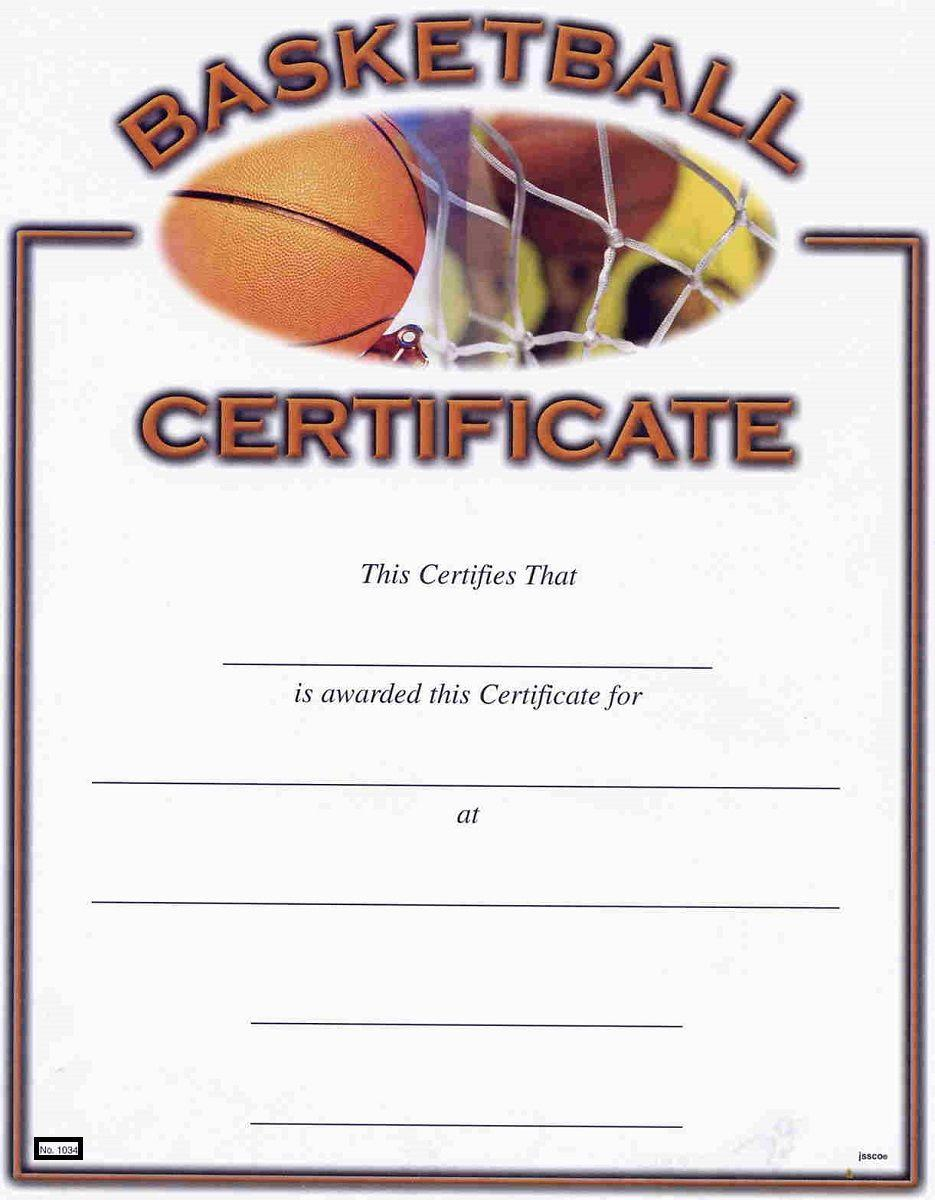 Basketball Award Certificate Templates