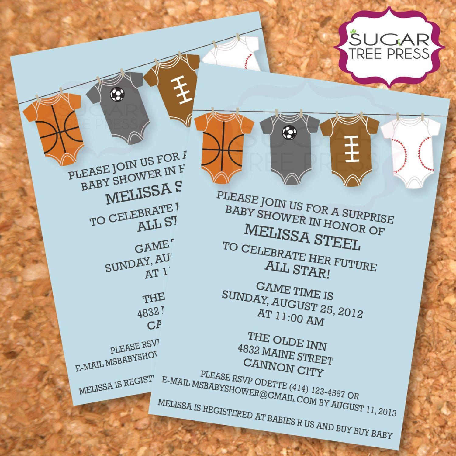 Basketball Baby Shower Invitation Templates
