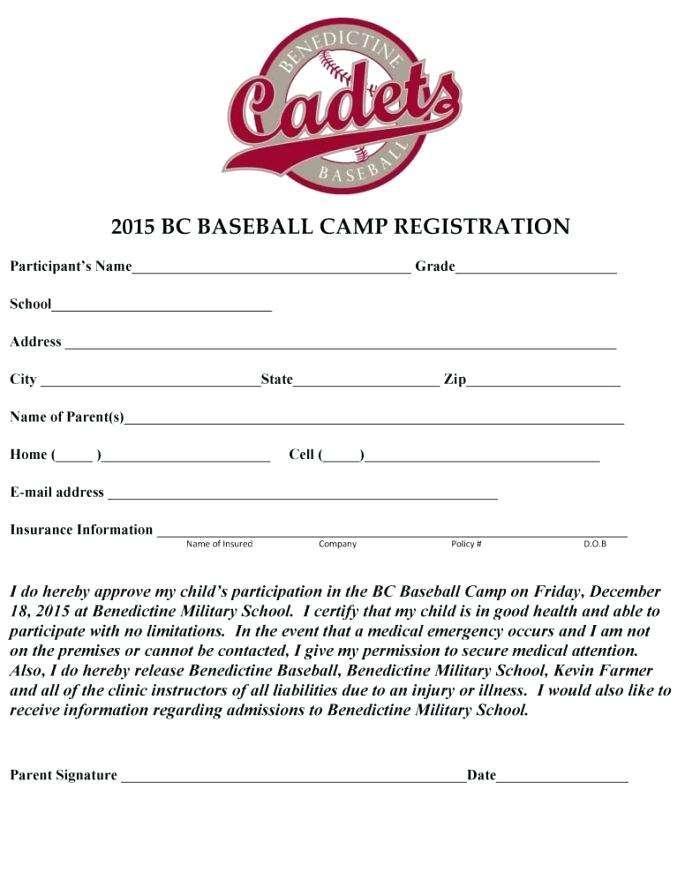 Basketball Player Registration Form Template