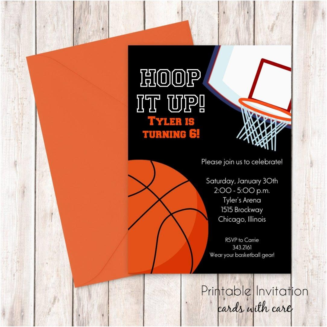 Basketball Ticket Birthday Invitation Template
