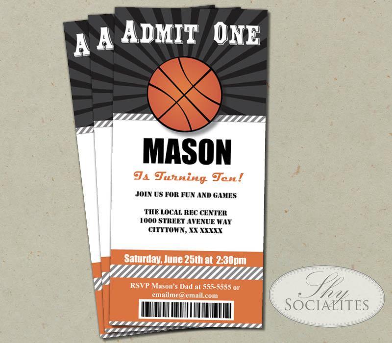 Basketball Ticket Invitation Template