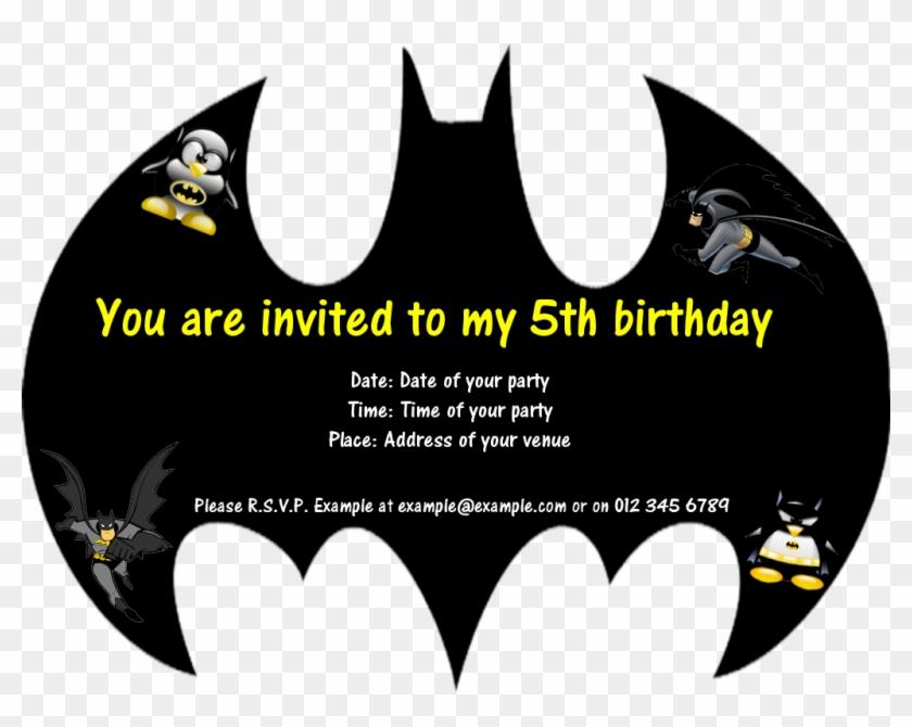 Batman Birthday Invitation Card Template
