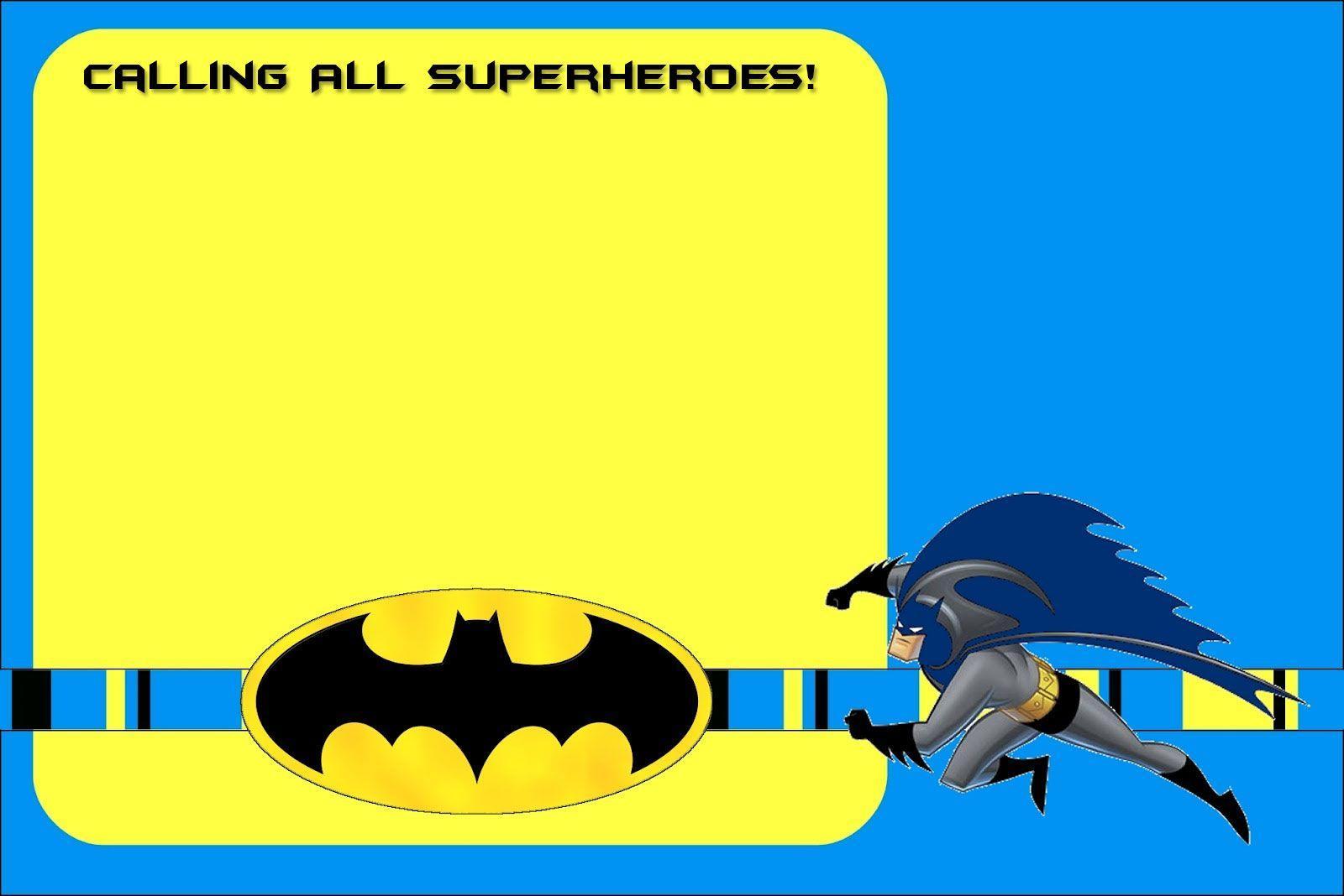 Batman Invitation Template Free