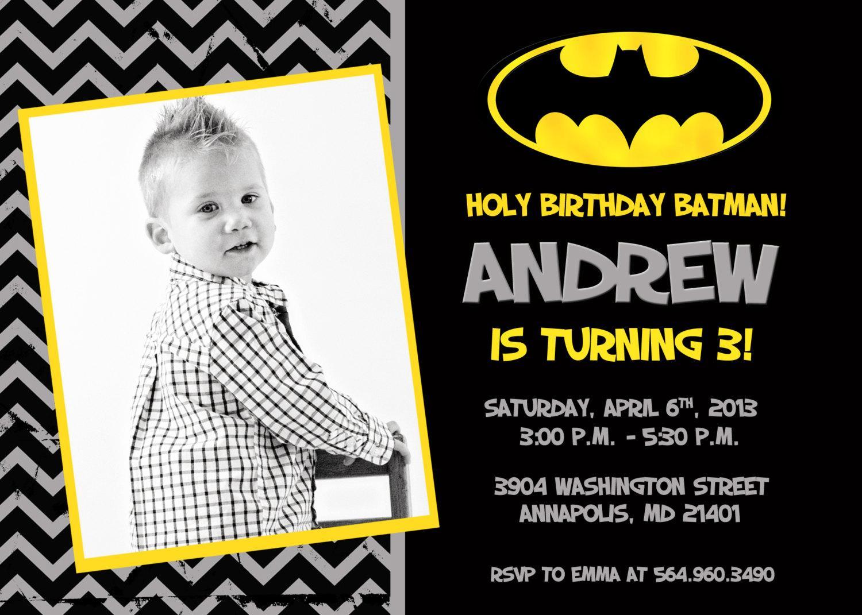 Batman Invitation Template