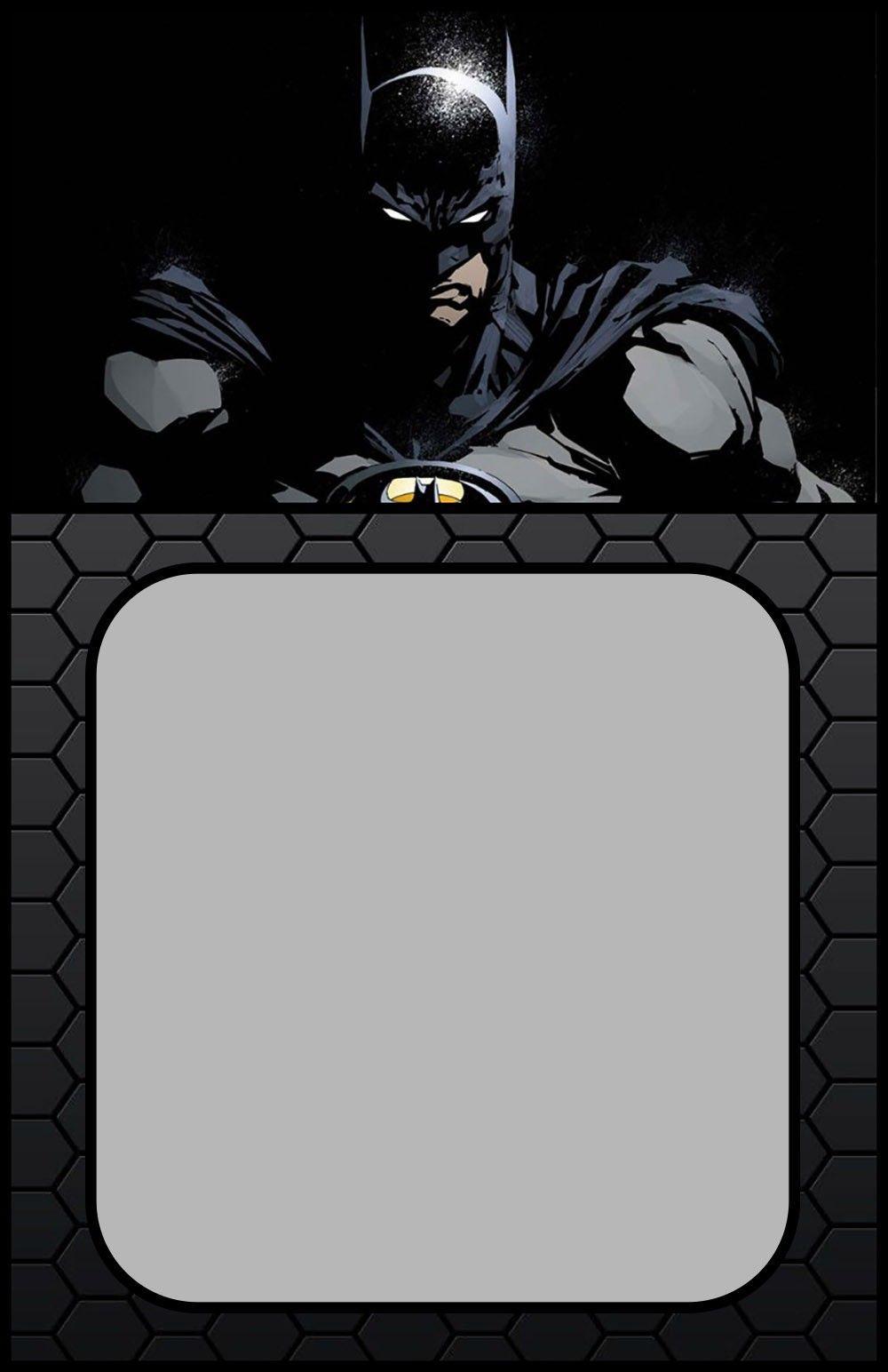 Batman Invitation Templates