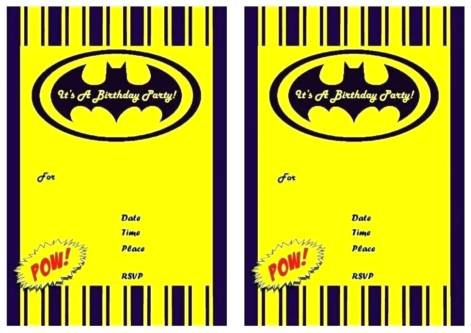 Batman Themed Birthday Invitation Template