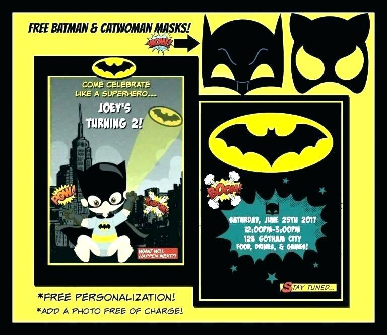 Batman Wedding Invitation Templates