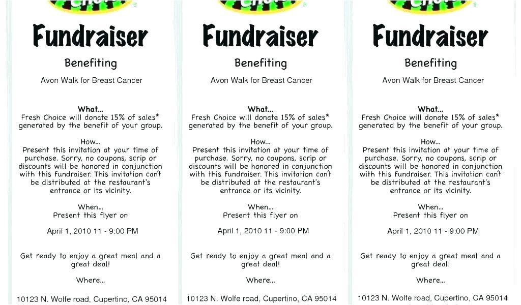 Bbq Fundraiser Ticket Templates Free