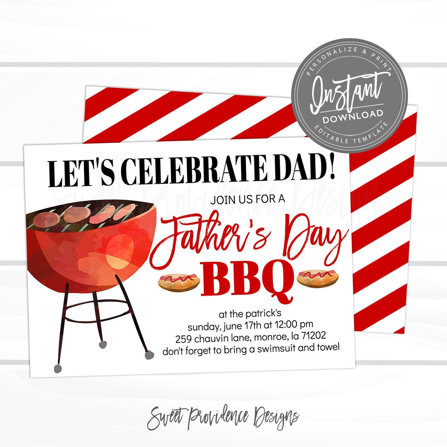 Bbq Invitation Designs
