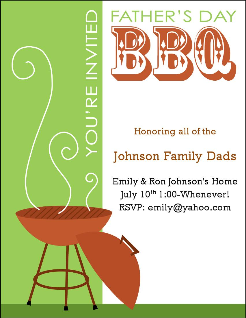 Bbq Invite Template Word