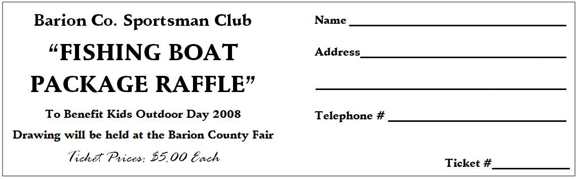 Bbq Plate Tickets Template