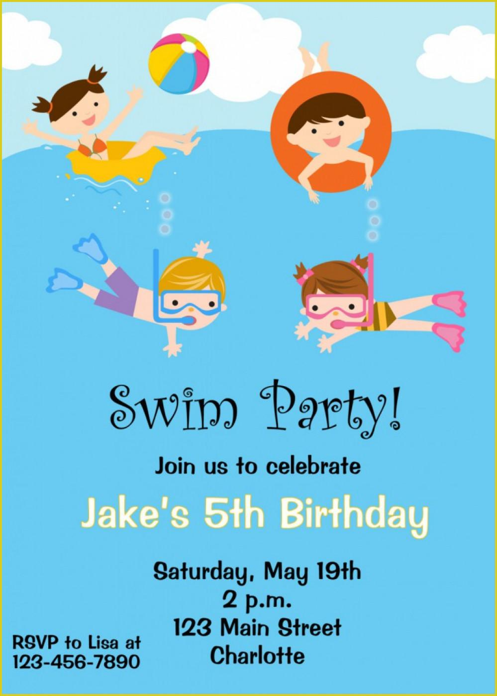 Bbq Pool Party Invite Template