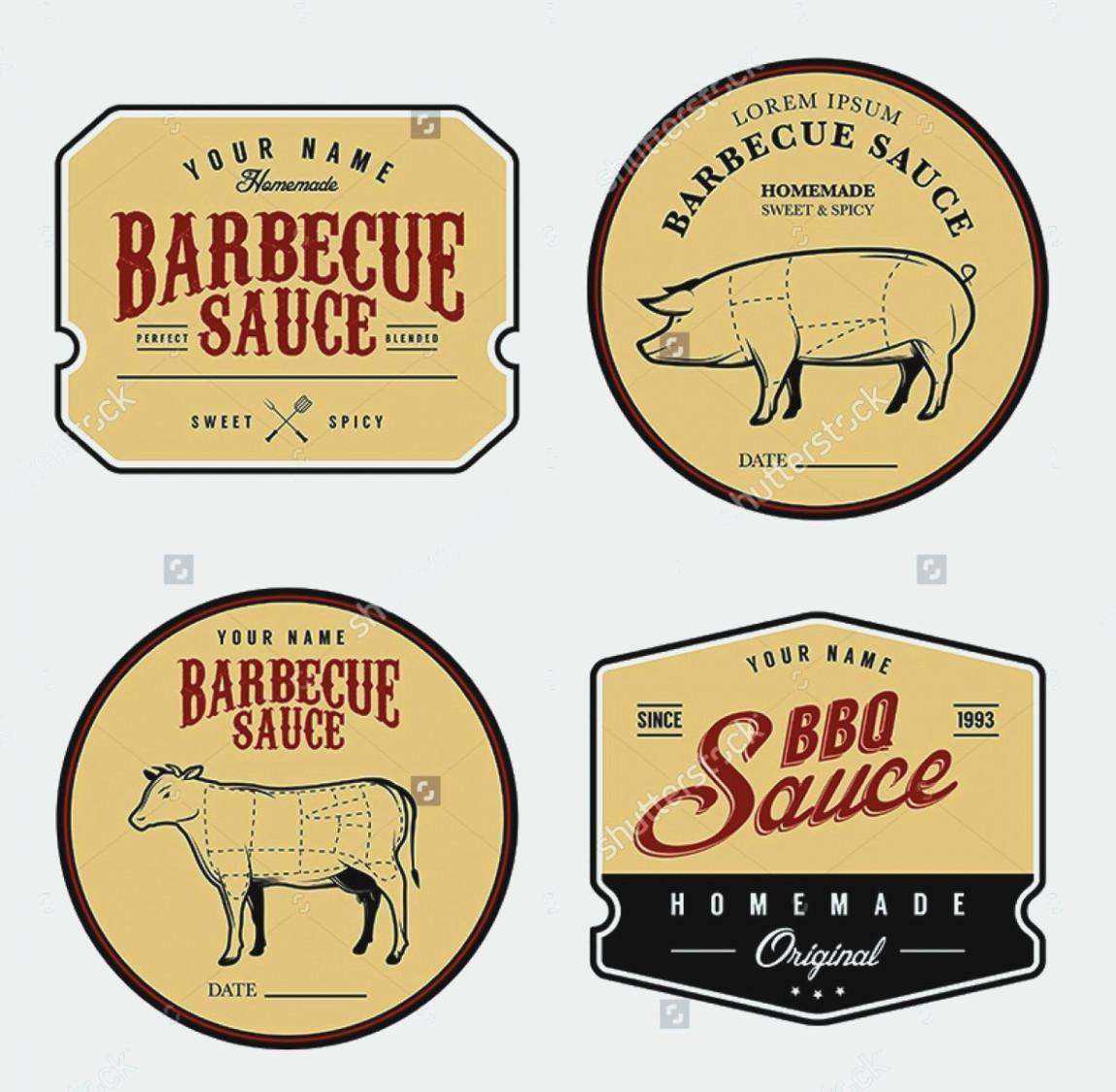 Bbq Sauce Label Template