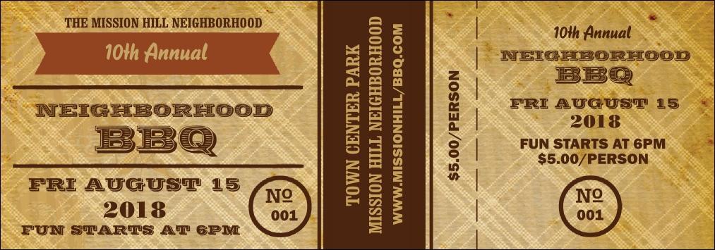 Bbq Ticket Template Free