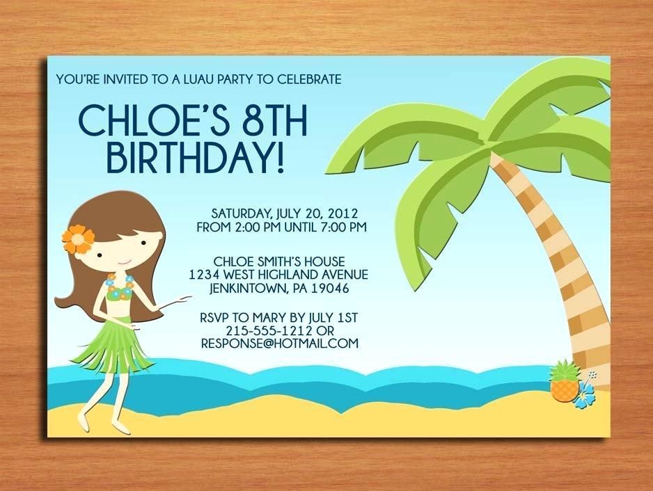 Beach Birthday Party Invitation Template