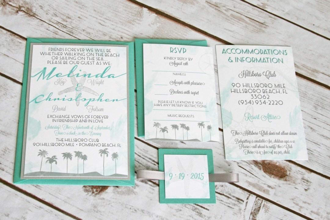 Beach Invitation Designs