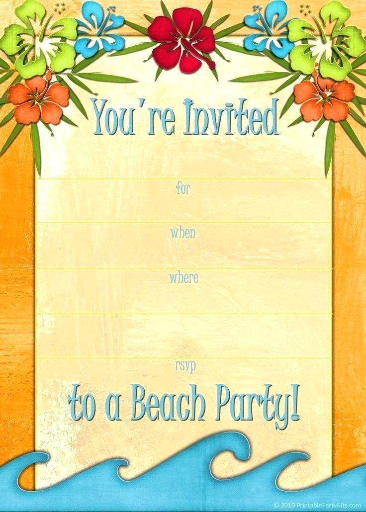 Beach Party Invitation Template