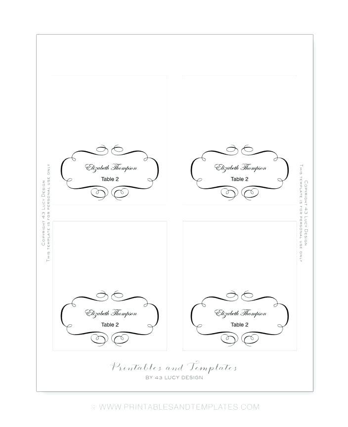 Beach Wedding Place Cards Templates