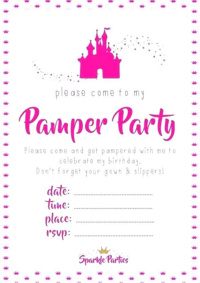 Beauty Spa Invite Template