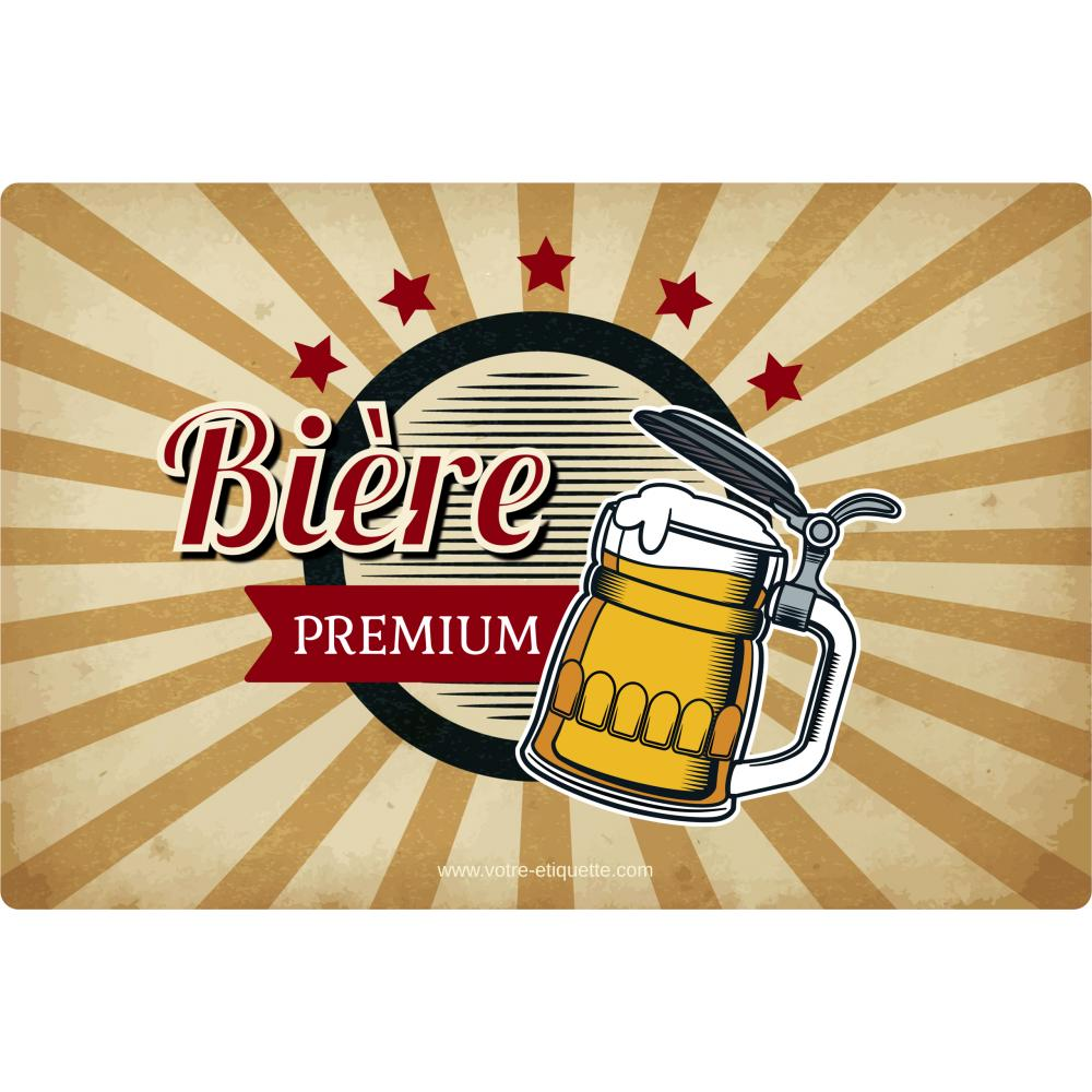 Beer Bottle Sticker Template