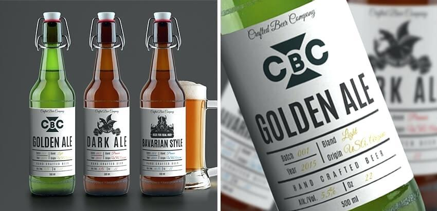 Beer Label Template Psd Free