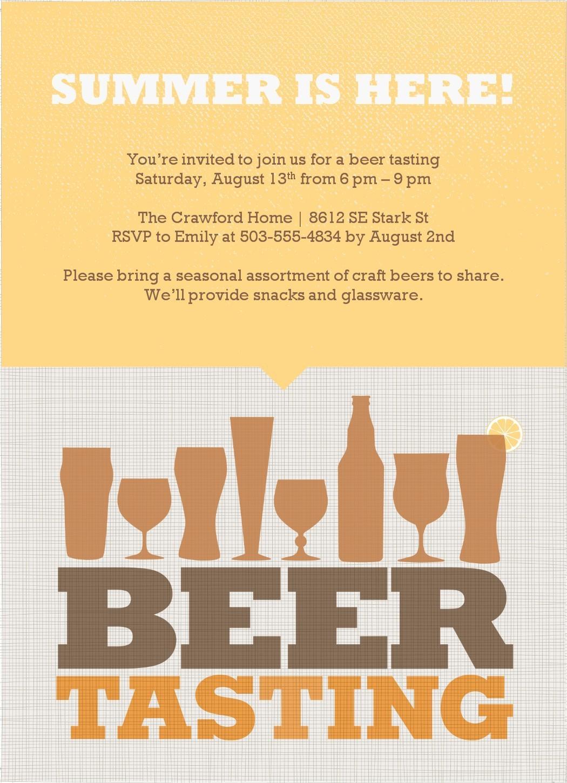 Beer Tasting Invitation Template Free