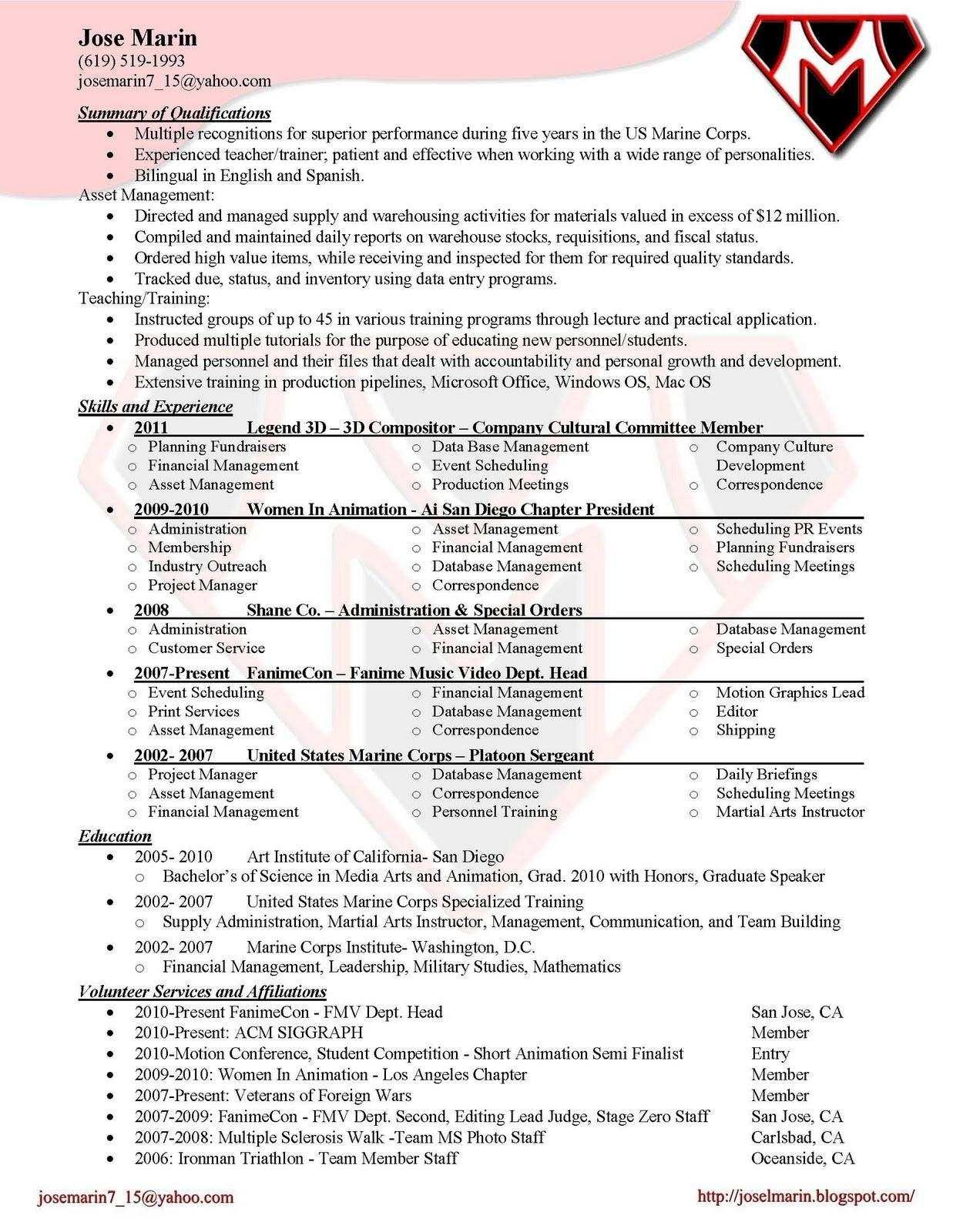 Beginner Resume Templates Free