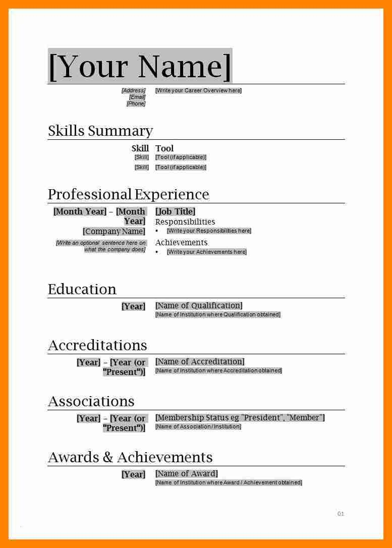 Best Cv Templates For Word