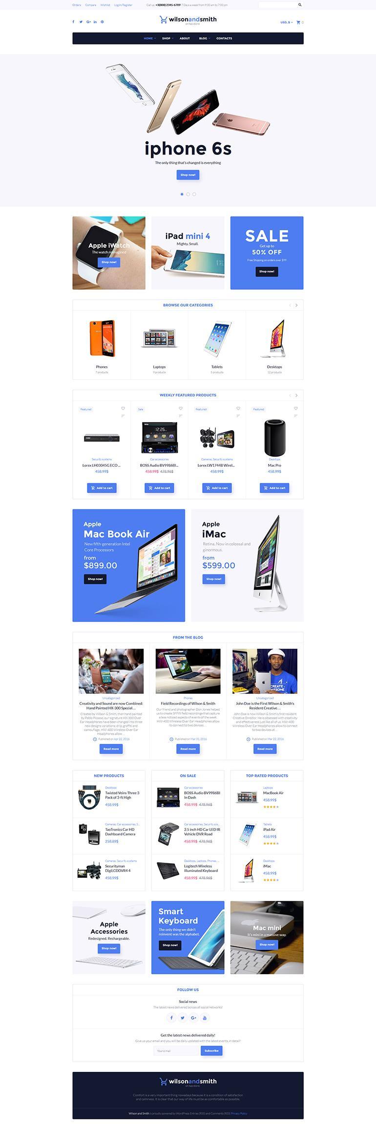 Best Ecommerce Template WordPress