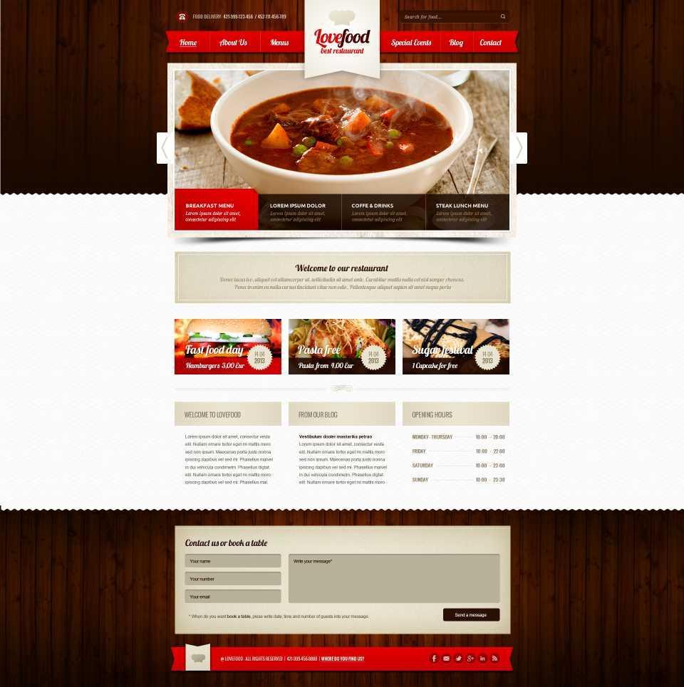 Best Food Websites Templates