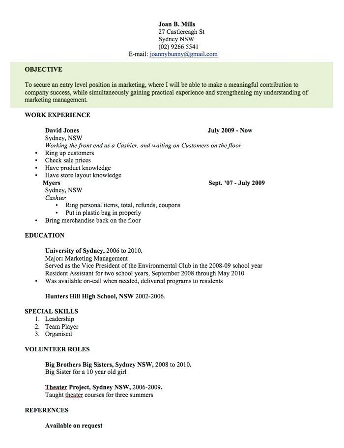 Best Free Resume Template Australia