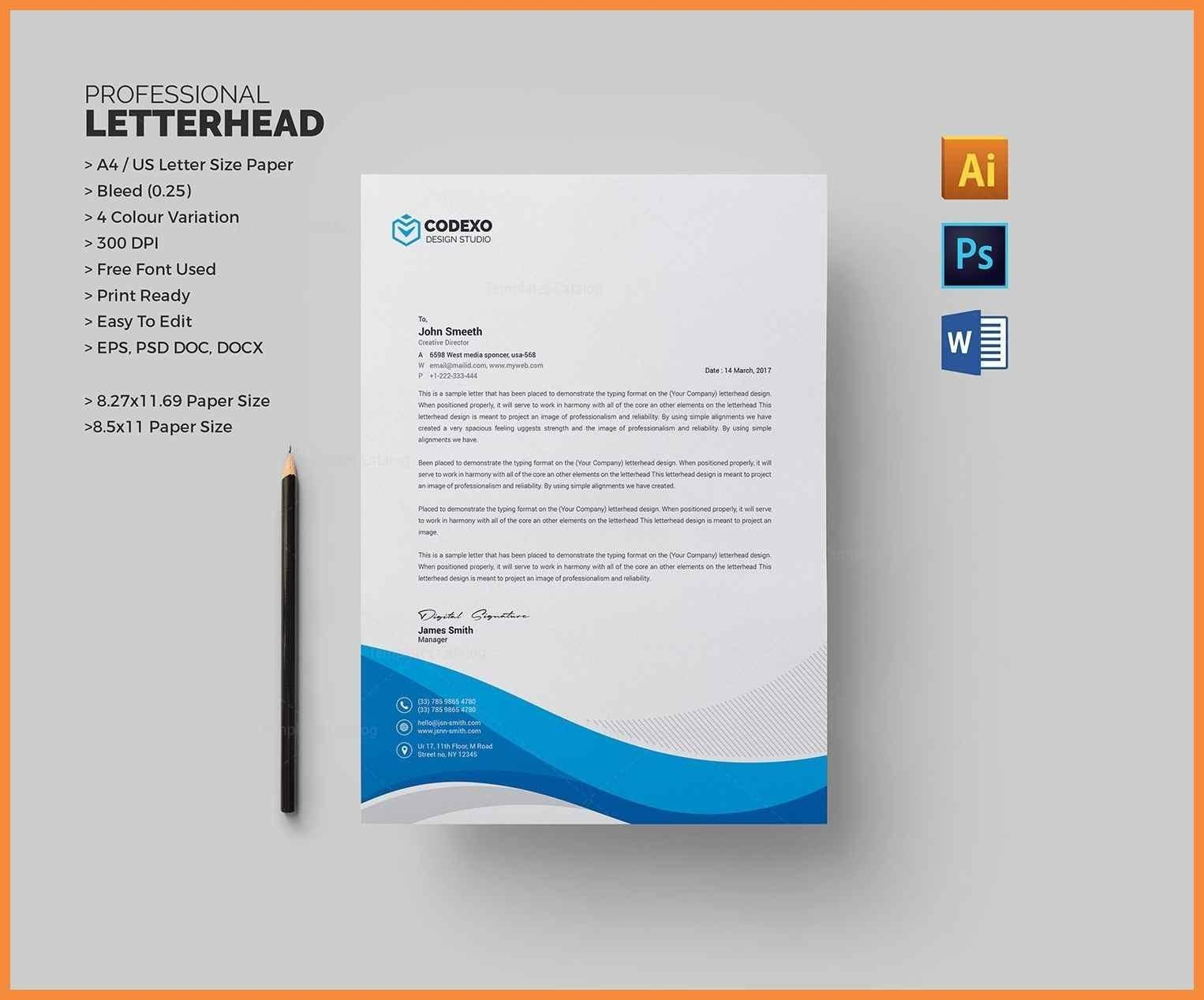 Best Letterhead Design Templates Free Download