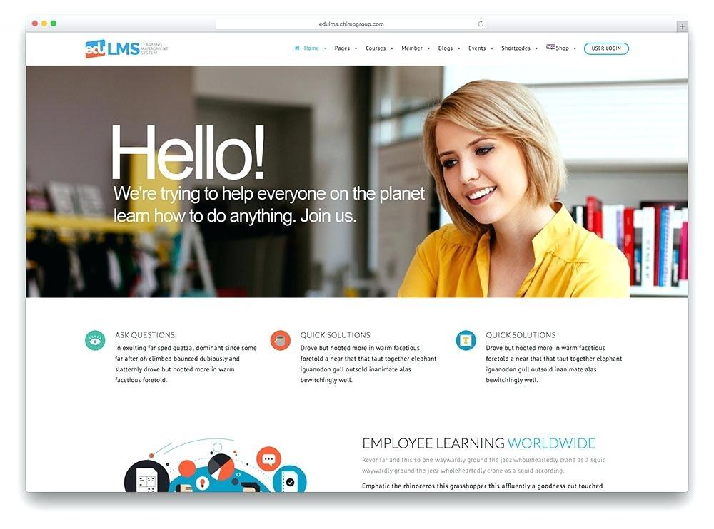 Best Lms Website Template