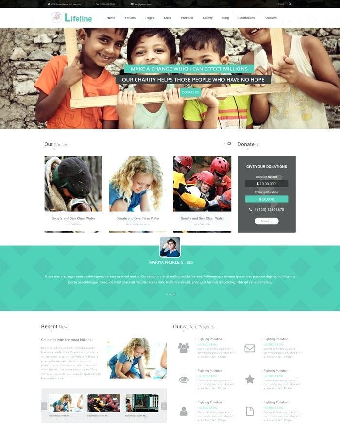 Best Ngo Website Template