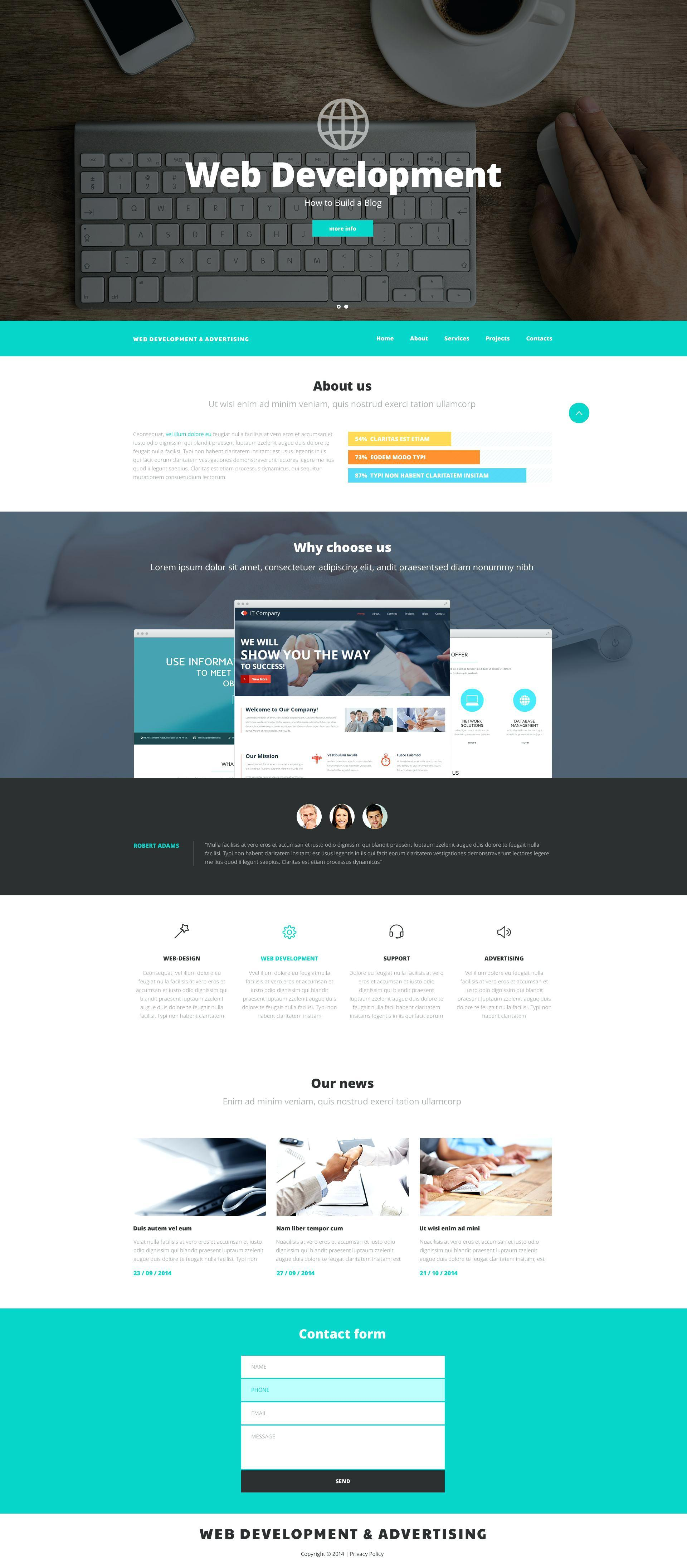 Best Parallax Websites Templates