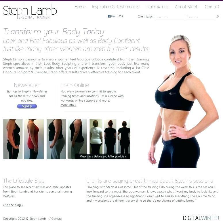 Best Personal Trainer Website Template