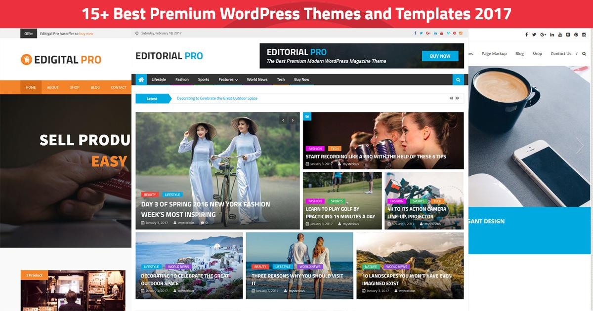 Best Premium Templates WordPress