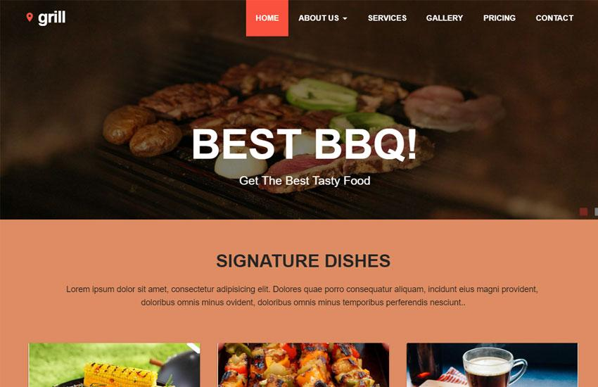 Best Restaurant Website Templates Free Download