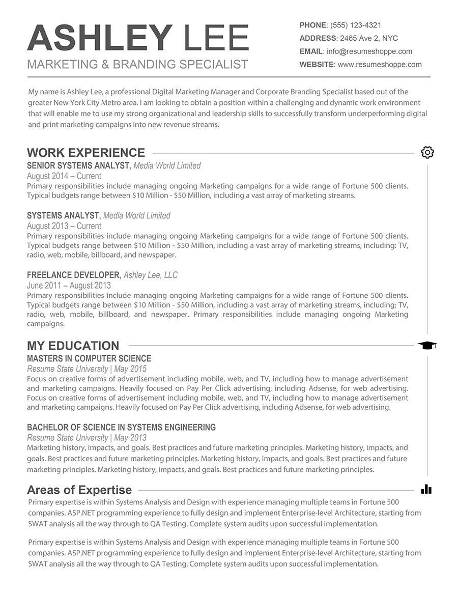 Best Resume Template Mac