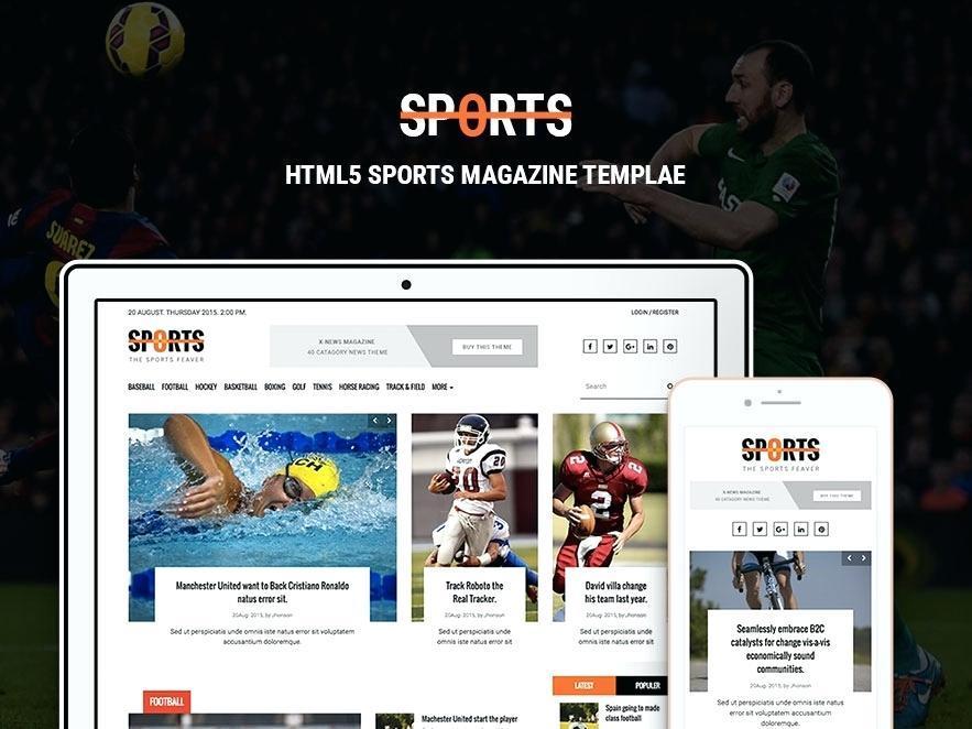 Best Sports Websites Templates